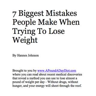 7 Biggest Mistakes People Make When Trying To Lose Weight eBook