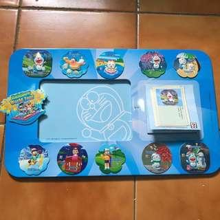 🚚 哆啦A夢時光機相框(附贈便利貼便條紙+11款磁鐵)