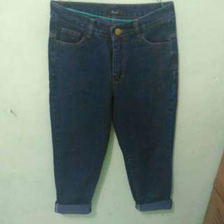 Plain boyfriend jeans navy