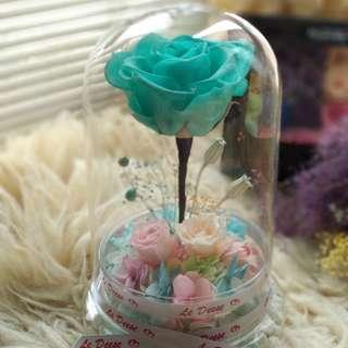 Tiffany blue 保鮮花 永生花 擺設