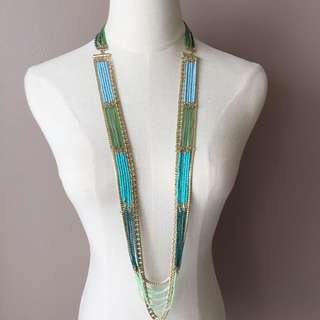 Sequin Boho Beads Long Necklace