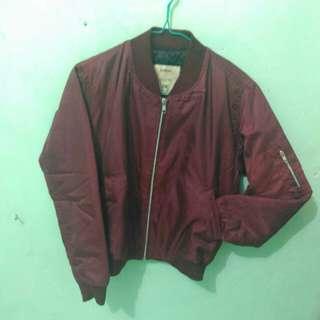 Maroon Boomber jacket