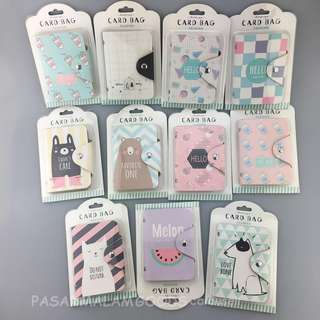 Instock Cardholder Cards Holder Cute Characters Namecard Organizer Pouch Credit Card Storage