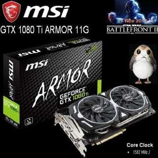 MSI GTX 1080 Ti ARMOR 11G GeForce.. (  NON OC Type )