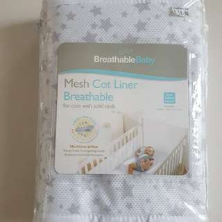 Breathable Cot Liner and Cot Bumper mesh