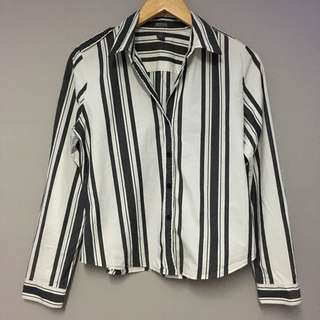 Kenneth Cole Striped Button Down Shirt