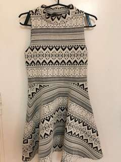Topshop Aztec Turtleneck Dress