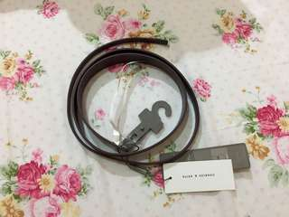 Burgundy Belt Charles and Keith (size M)