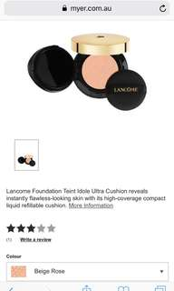 Lancôme teint idol ultra cushion refill 02 beige rose