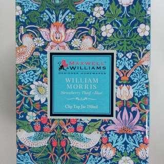 Clip Top Jar 750ml Williams Morris Strawberry Thief-Blue