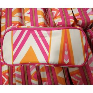 TRINA Colorblocked Cosmetic Pouch