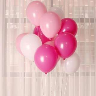 Pink Helium Balloons Combination