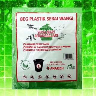 100% FRAGRANT LEMONGRASS PLASTIC BAG SIZE L