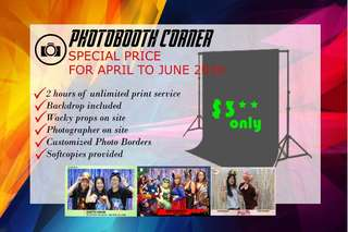 Photobooth Services Special Price!