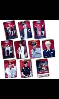BTS Crystal Card Sticker