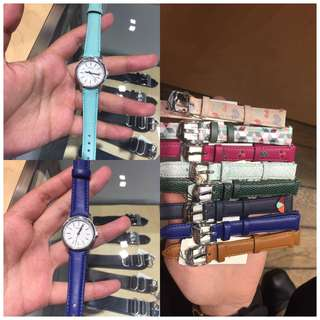 FOSSIL WATCHES + Tin box and request straps