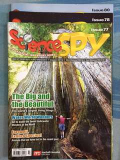 Science Spy Issues 77, 78 and 80