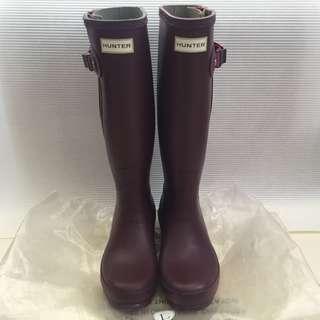 Hunter rain boot -Aubergine colour