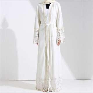 Free postage 🔥 Dubai abaya muslim solid robe knitting dress kaftan abaya