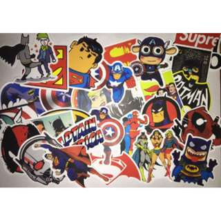 Marvel DC superhero Laptop Stickers