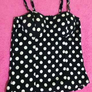 Polka dots padded corsette