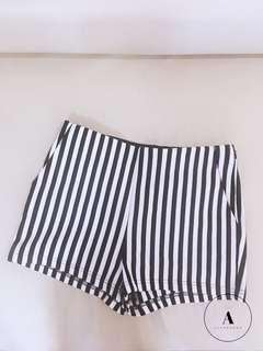 F21 Black & White Striped Shorts