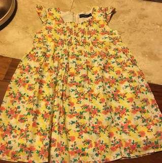 Freego flowery girl dress 3-4yrs