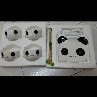 (New and Unused) Panda Ceramic Dining Set