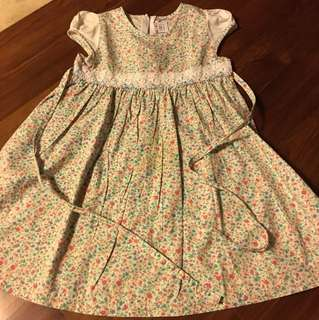 Cotton flowery dress 4 Yrs