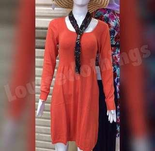 Dress import rajut orange