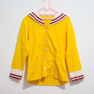 Blazer Seifuku Kuning Kerah Sailor (Cosplay Clannad)