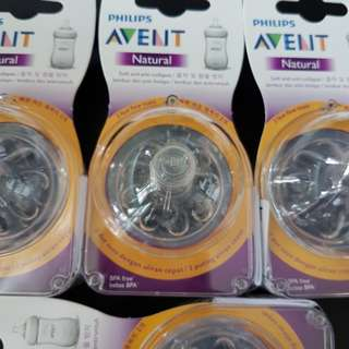 Avent Teats 4 Holes for Natural Series Bottles 6M+