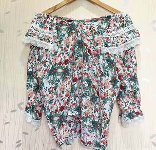 Floral Two-way top ❤️