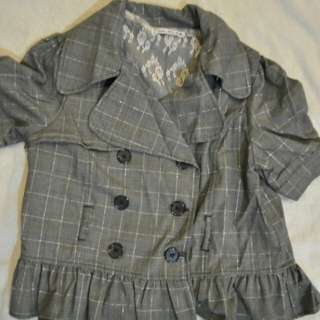 Checkered Trench Coat style
