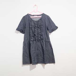 Frilly Chambray Dress Rempel