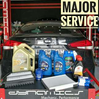KIA : Castrol Edge Titanium Major Service Package