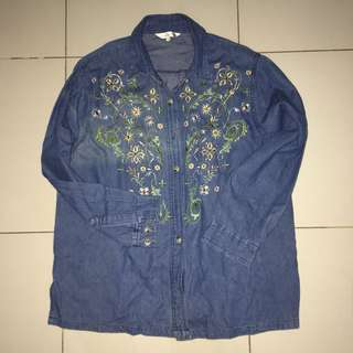 Embordery jeans outer