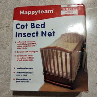 Happy team cut bed insect net