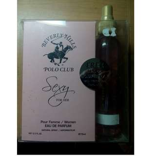 Beverly Hills Polo Club Sexy for Her Bundle Pack EDP 2.5oz and Body Spray 5.25oz (SEALED)