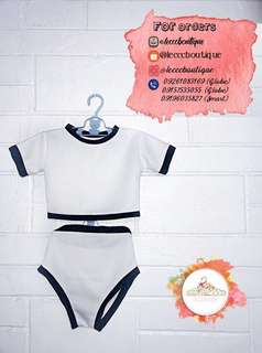 Crop top terno swimsuit