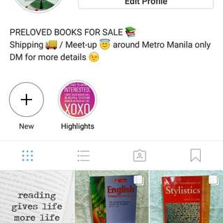 Preloved textbooks posted in instagram: tsundokosaem