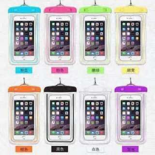 Glow in the dark waterproof pouch for mobiles