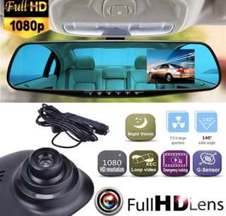 1080P LCD Display Screen Rearview Mirror DashCam