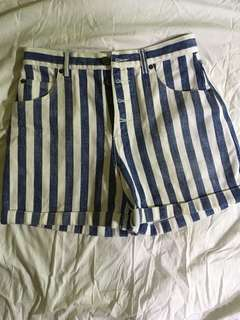 Camp Beverly Hills Shorts - Blue and White Stripes