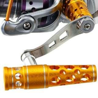 reel knob aluminium gold