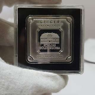 Silver Bar Geiger Original - 1 oz .999 Square in Capsule1 oz fine silver