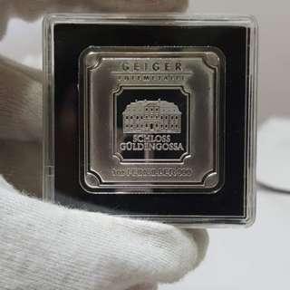 Silver Bar Geiger Original - 1 oz .999 Square in Capsule1 oz fine silver