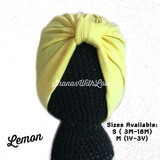 Basic Baby Turban - Lemon