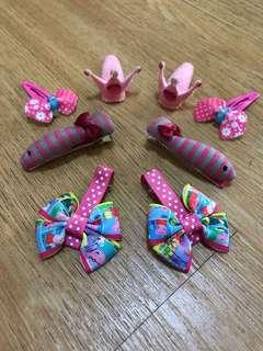 Hair Clips/ Hair Accessories/ Pink fish/ tiara/ peppa pig