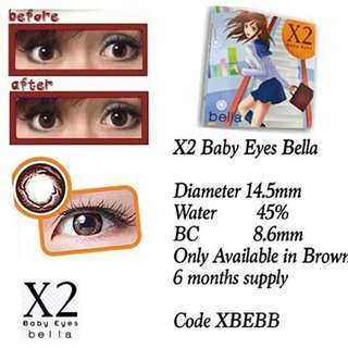 Softlens X2 Baby Eyes Bella Brown